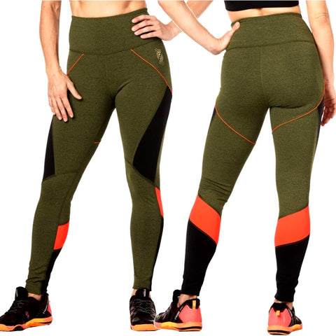 Train To The Beat High Waisted Ankle Leggings