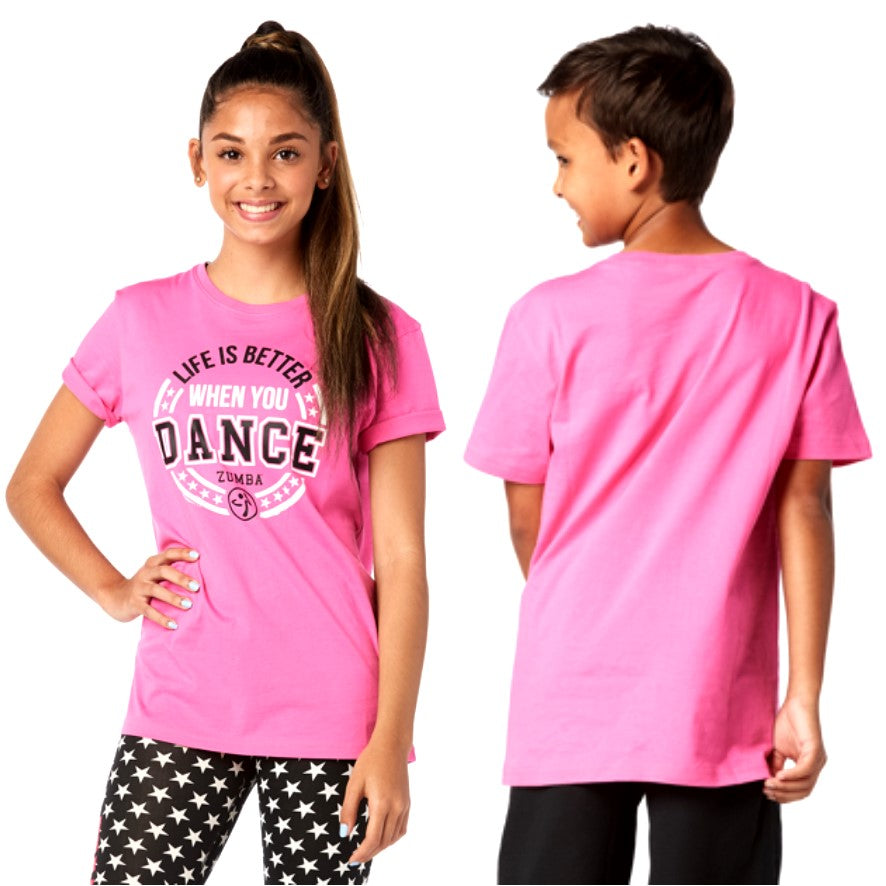 Zumba Junior When You Dance Tee (size S, M)