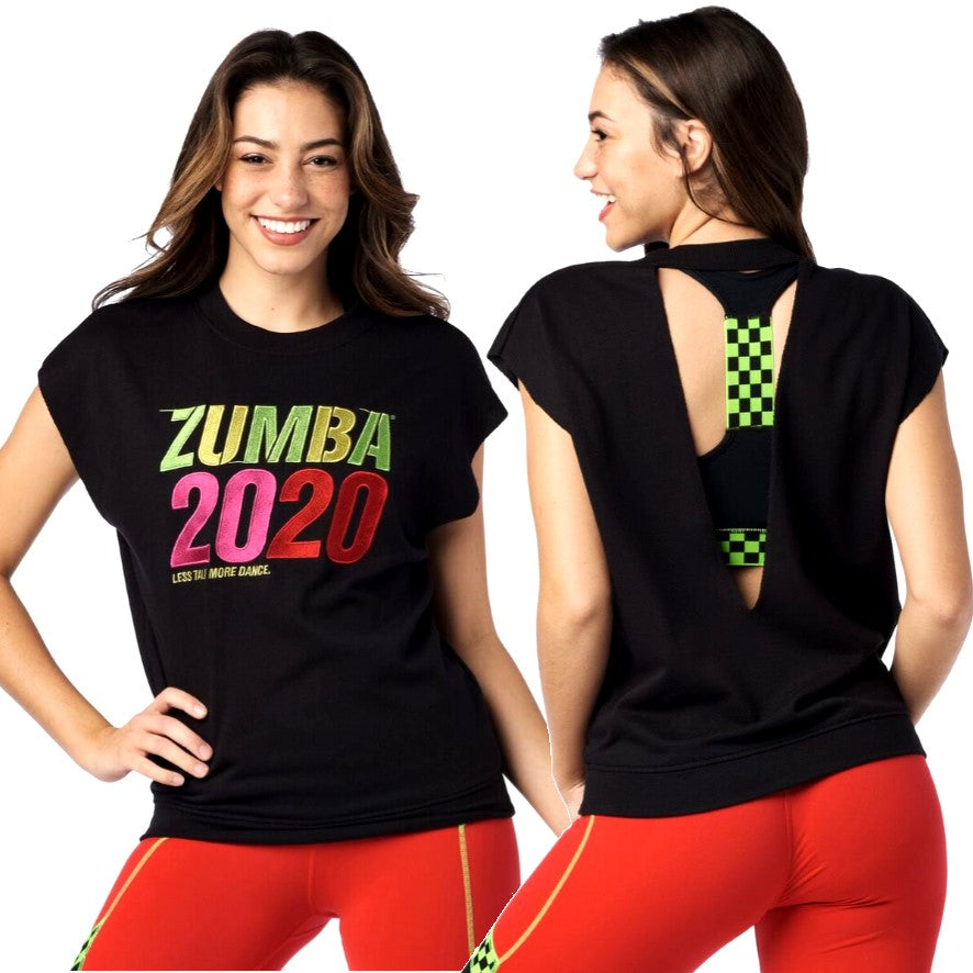 Zumba 2020 Open Back Top (size XS - only 1 left)