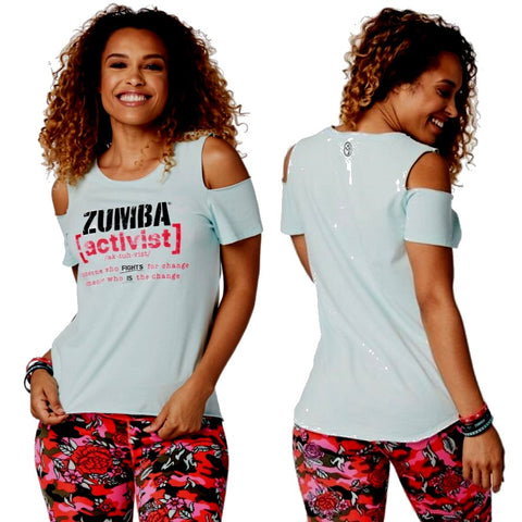 Zumba Activist Cold Shoulder Top (size M - only 1 left)