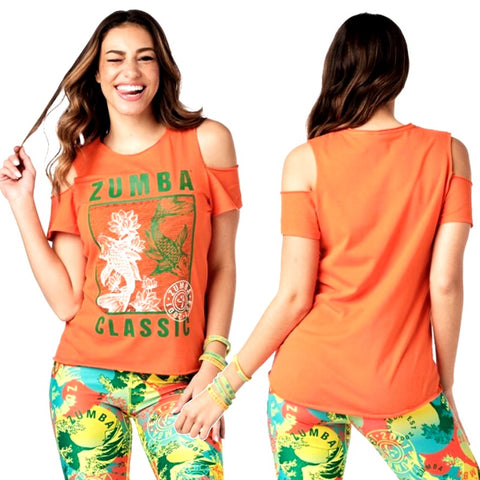 Zumba Classic Cold Shoulder Top (Pre-Order)