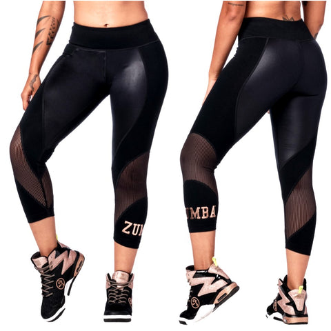 Zumba Dance Tribe Panel Crop Leggings (size XS)