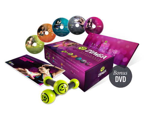 Zumba Exhilarate 4 DVD Set Plus Bonus (AUS)