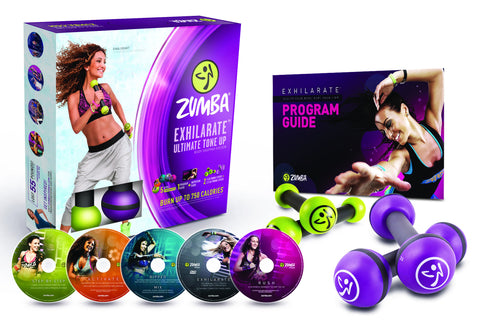 Exhilarate Ultimate Tone Up 5-DVD & Toning Stick Set