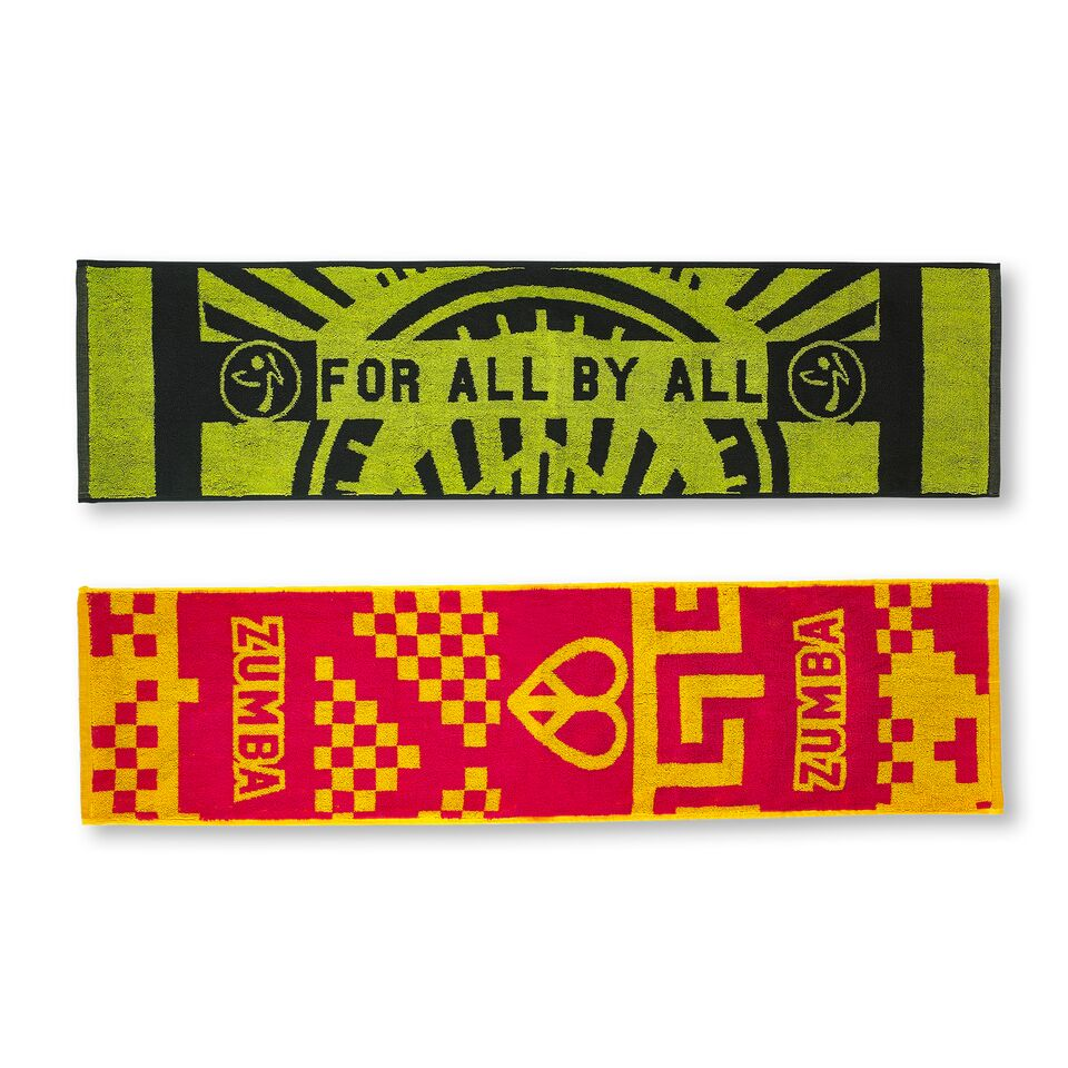 Zumba For All Fitness Towels 2pk