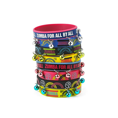 Zumba For All Rubber Bracelets 8pk