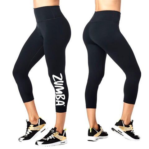 Zumba Forever High Waisted Crop Leggings (size L, XXL)