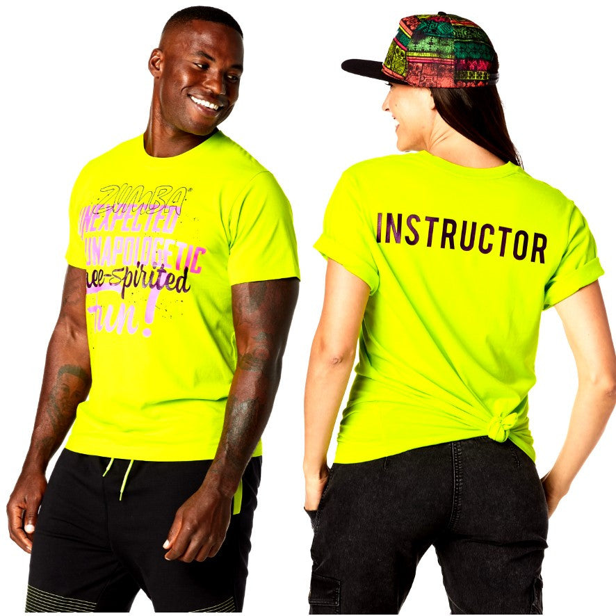 Zumba Free Instructor Graphic Tee - Unisex (size XS/S)