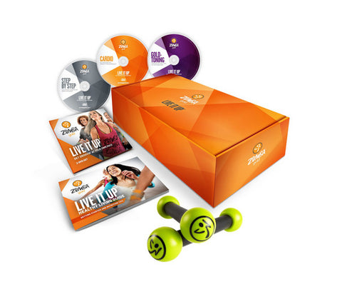 Zumba Gold Live it Up 3 DVD Set (AUS)
