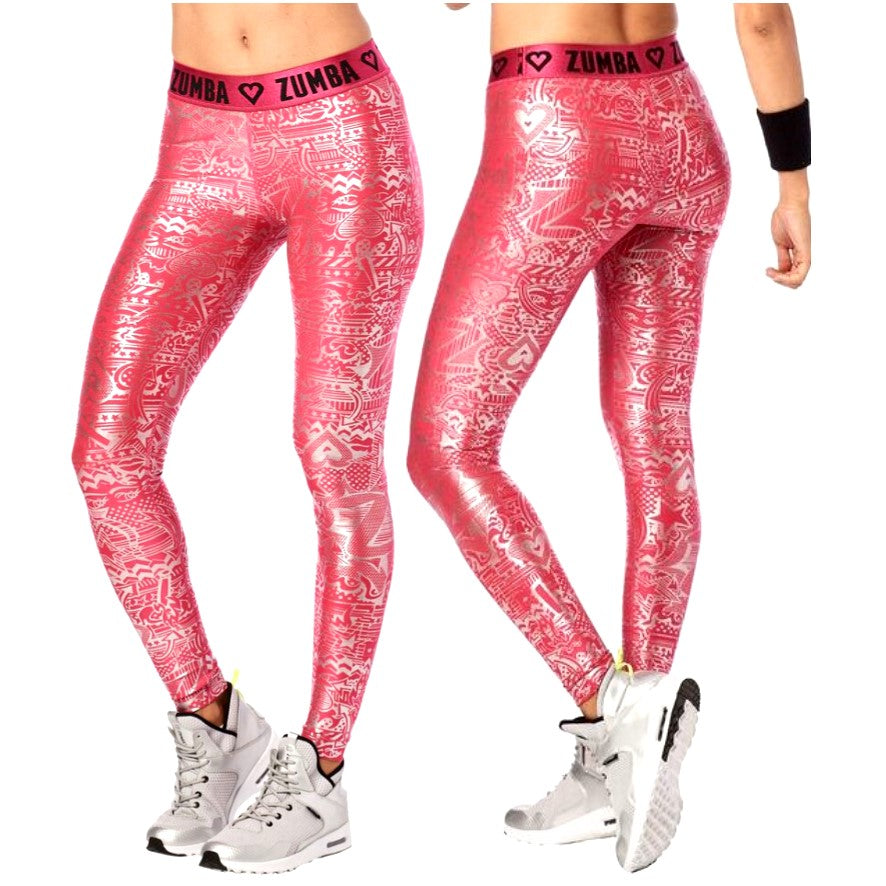 Zumba Has My Heart Metallic Leggings