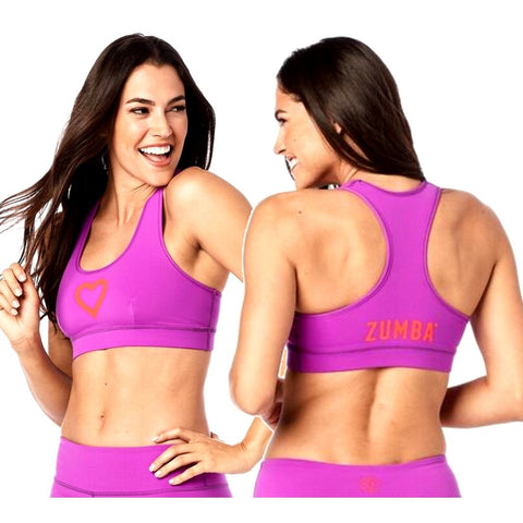 Zumba Has My Heart Scoop Bra