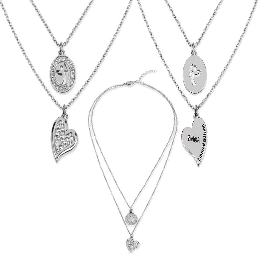 e4634cd20f1 Zumba Love Double Layer Necklace Embellished With Crystals From Swarovski -  Silver