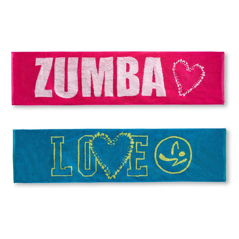 Zumba Love Fitness Towels 2pk