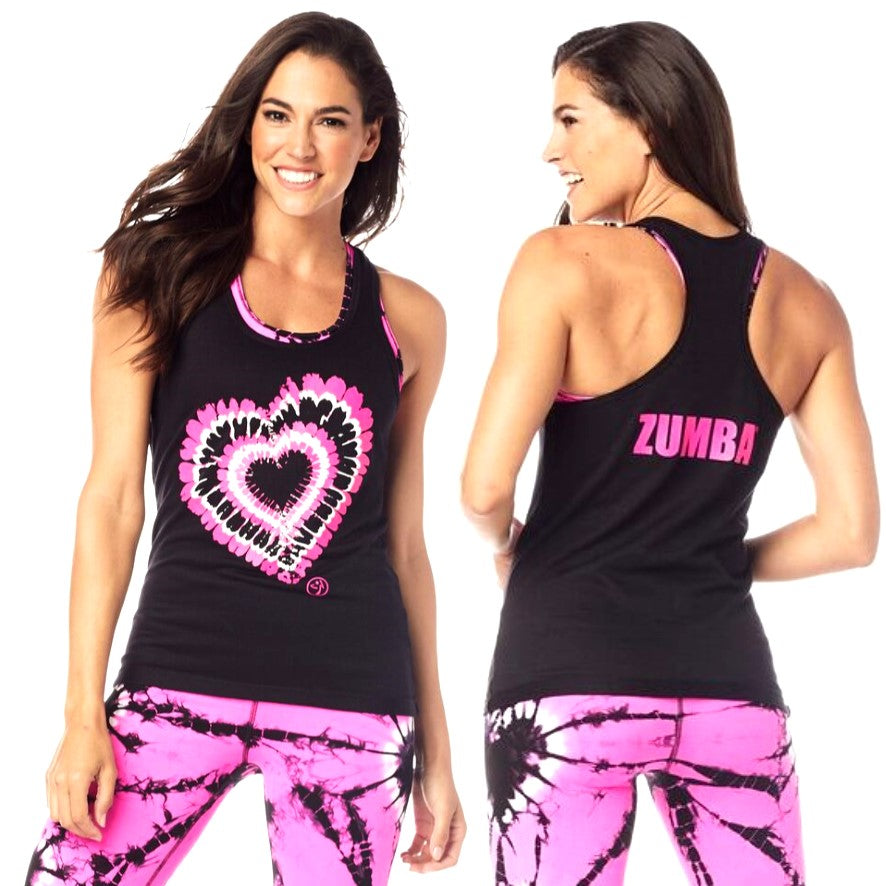 Zumba Love Ribbed Tank (size L - only 1 left)
