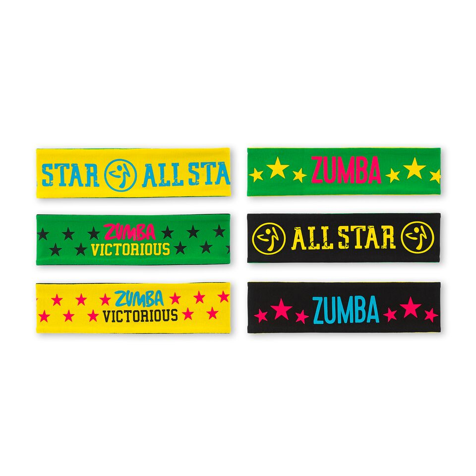 Zumba MVP Reversible Headbands 3pk