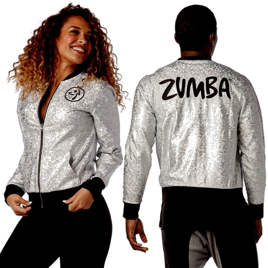 Zumba Shine So Bright Bomber Jacket (size XS)