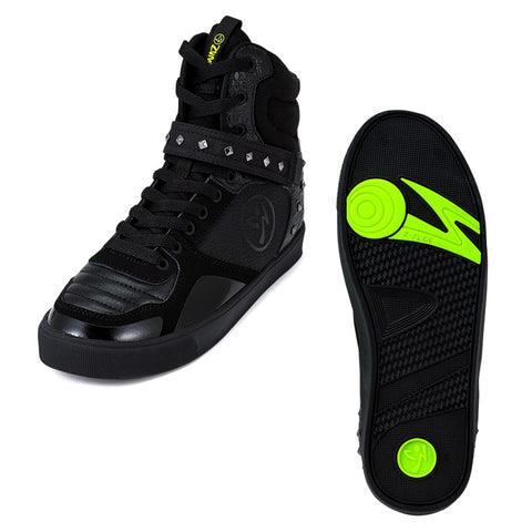 Zumba Street 2.0 - Black Studded (sizes 8, 9)