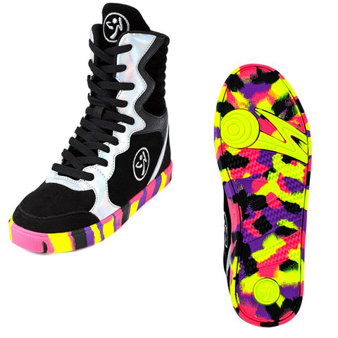 Zumba Street Elevate - Black/Silver (sizes 7, 7.5, 8.5, 9)