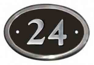Aluminium Oval House Number Sign