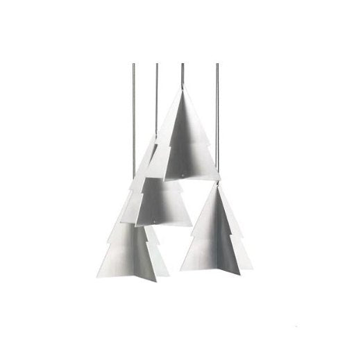 Christmas Tree Decorations 4 pieces in Stainless Steel