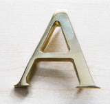 Satin Brass House Numerals