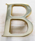 Polished Brass House Numerals