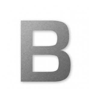 Stainless Steel Self Adhesive 80mm Letter B