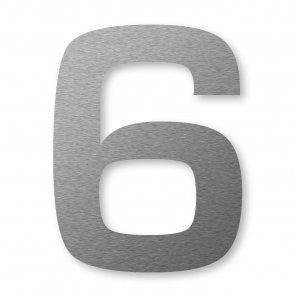 Stainless Steel XXL Number 6