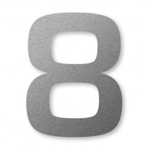 Stainless Steel XXL Number 8