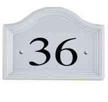 Ceramic Bridge White House Numbers - No Motif 1 to 99