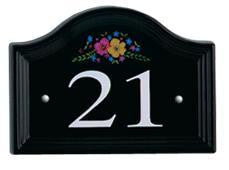 Ceramic Bridge Black House Numbers 1 to 99