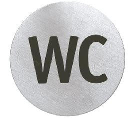 WC sign for toilet door
