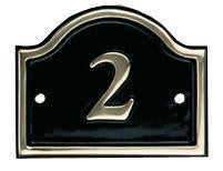 Cast Brass House Number Sign