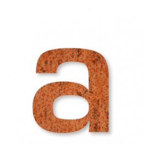 Corten Steel letter a which has a thickness of 2mm