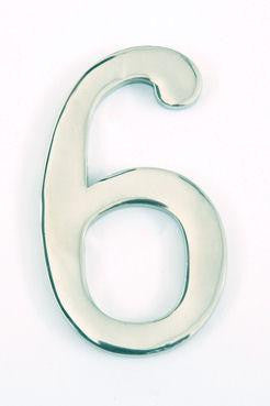 Polished Stainless Steel House Numbers Small