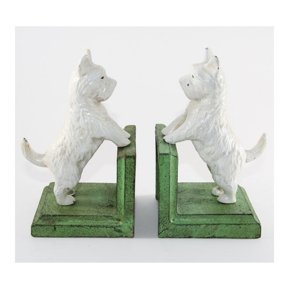 Westie dog book ends