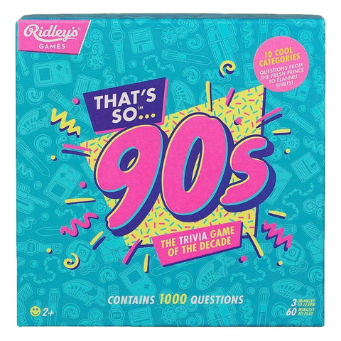 That's So 90's Trivia Game