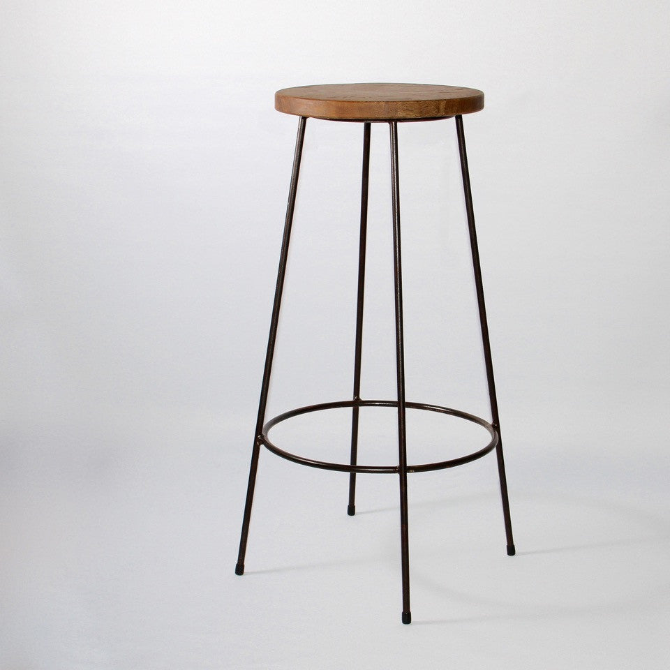 Industrial bar stool by jos Van Hulsen natural finish