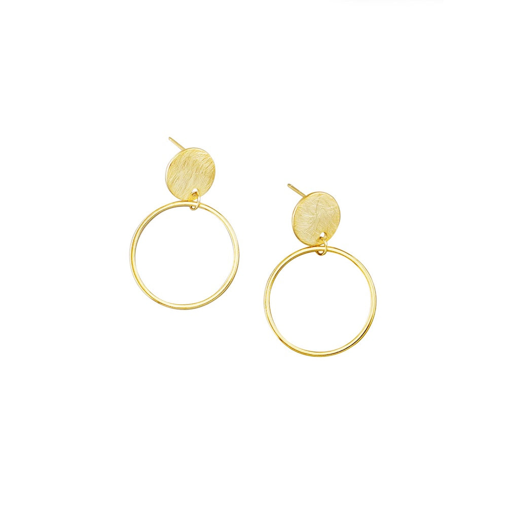 gold earrings under $30