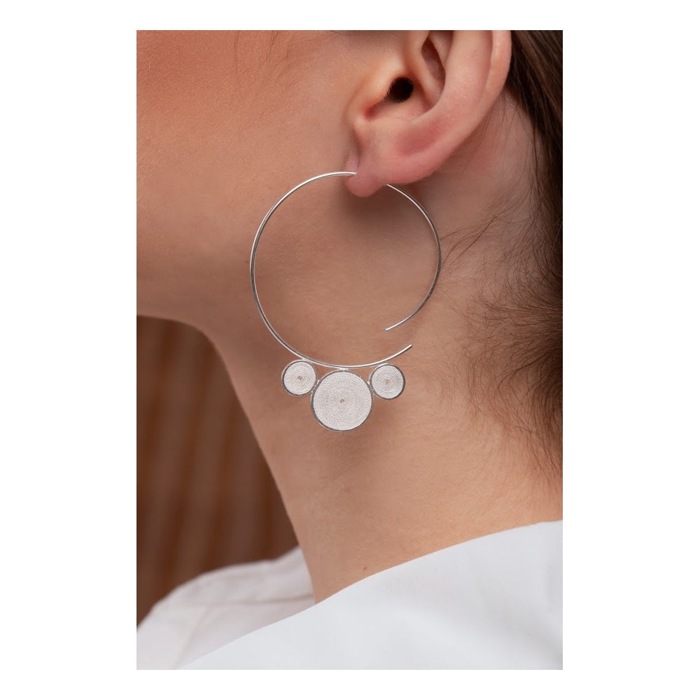 Colombian silver hoops