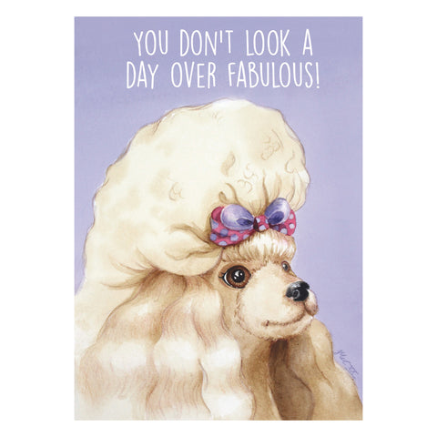 Card - Fabulous Poodle