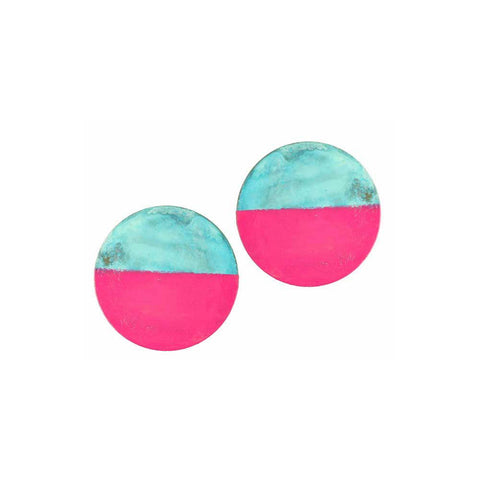 Magenta Mochi Earrings