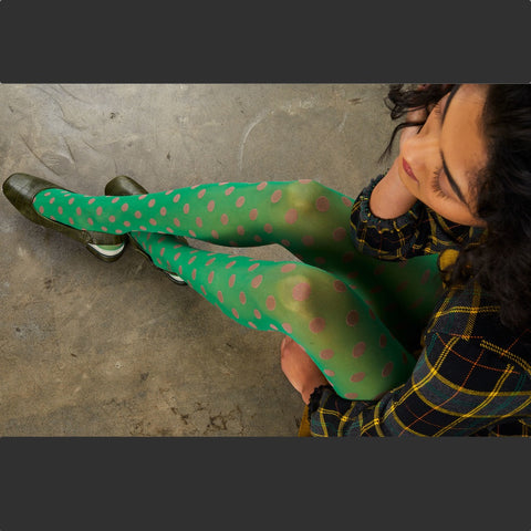 Spot Tights - Green