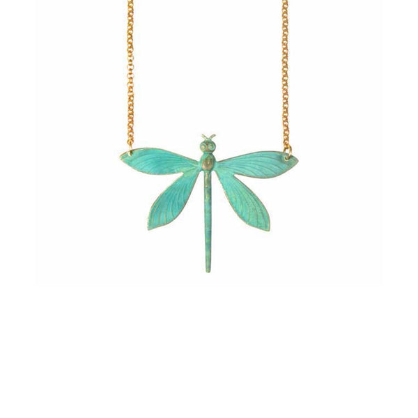 Verdigris Dragonfly Necklace
