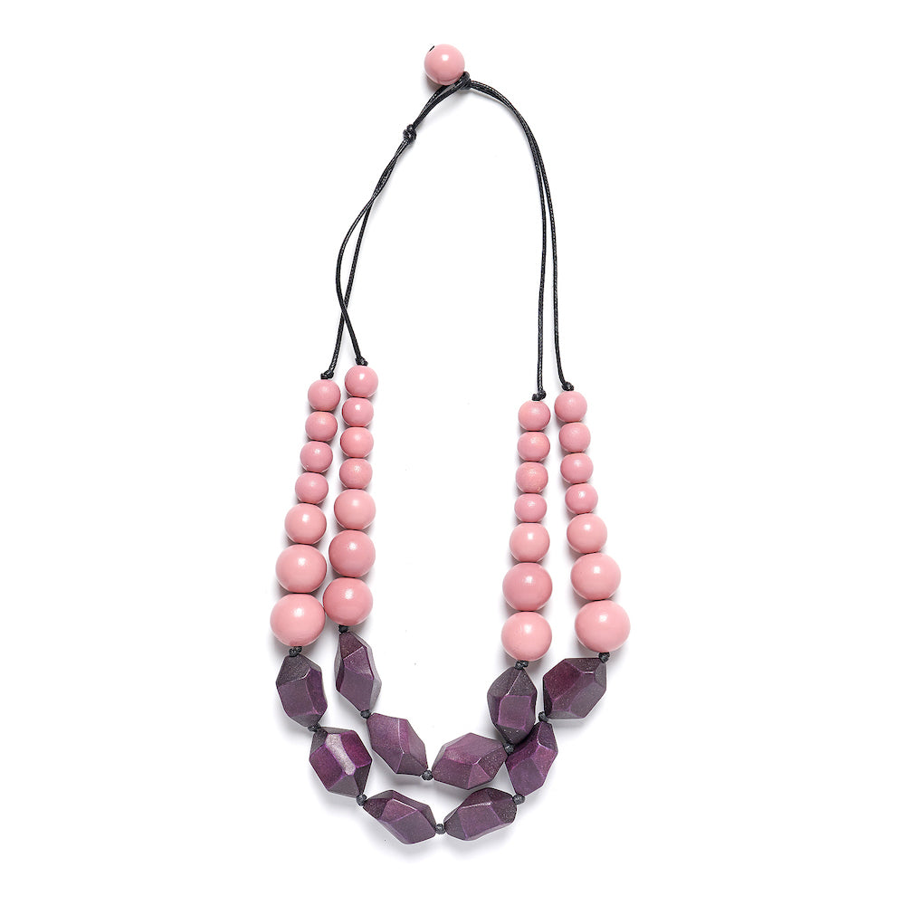 Tidal Necklace Aubergine