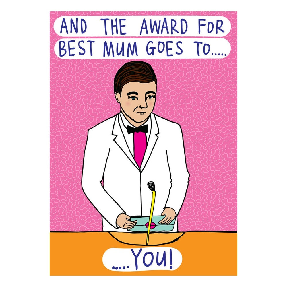 funny mothers day card award goes to