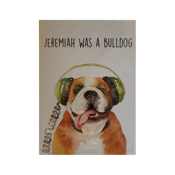 Card- Jeremiah Bulldog