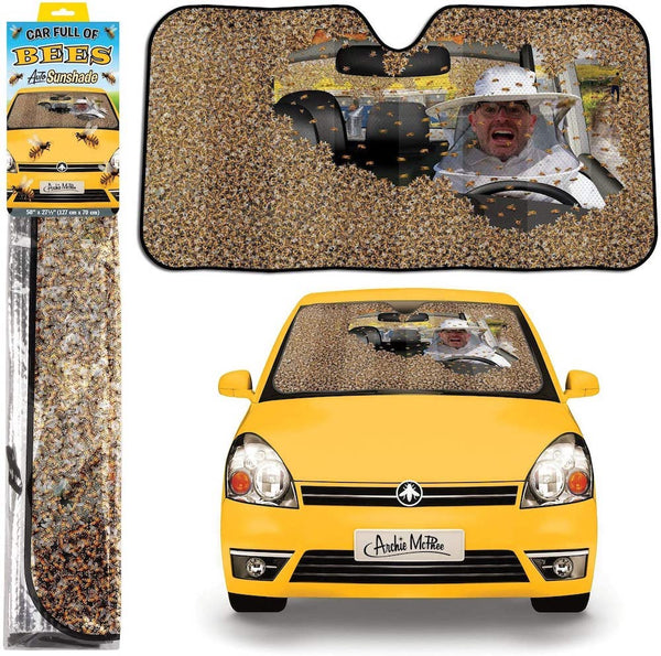 Car full of Bees Sunshade