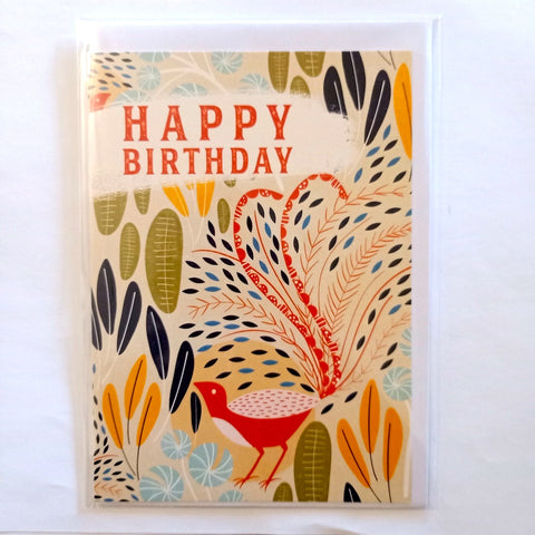 Card - Happy Birthday Peacock