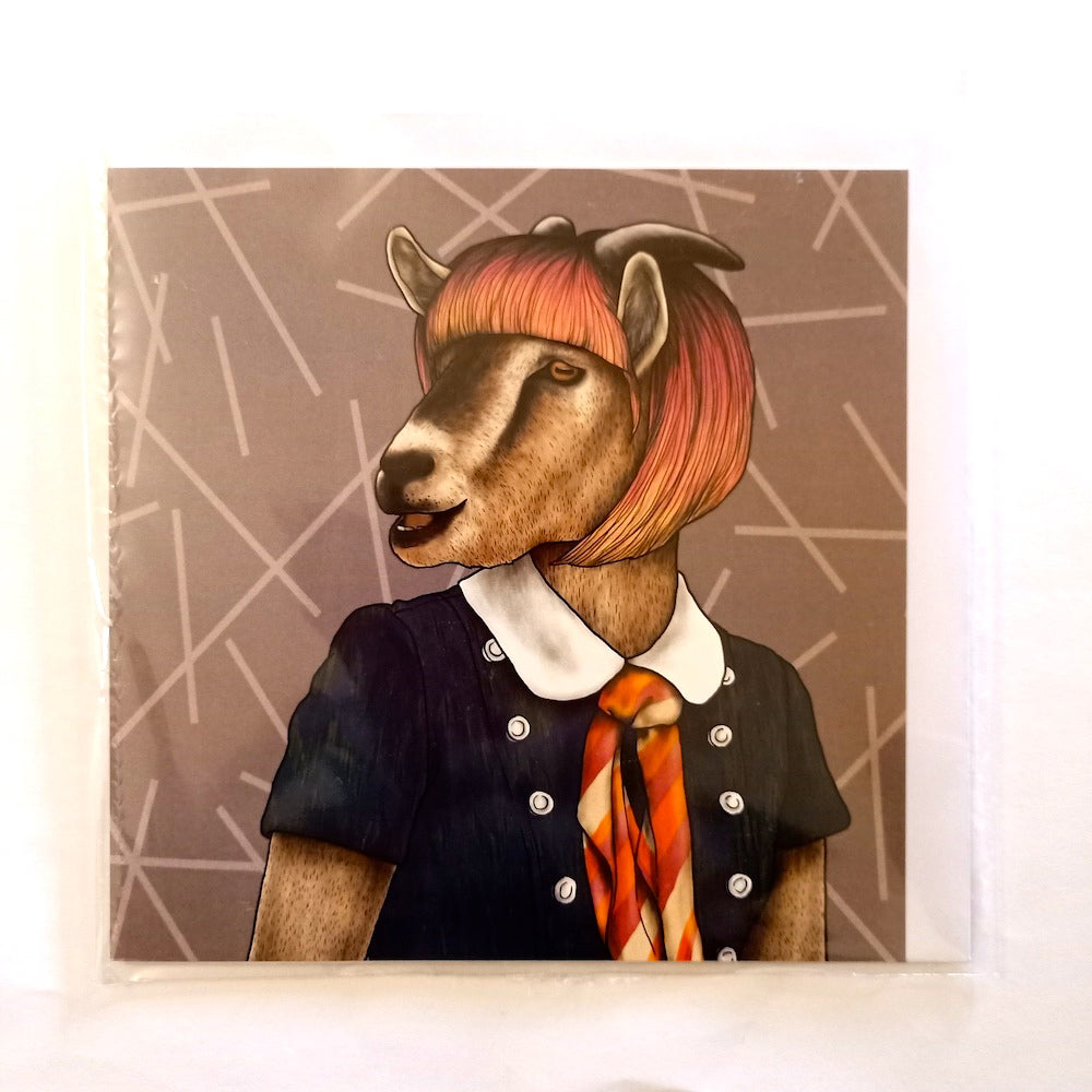 Card - Hipster Goat